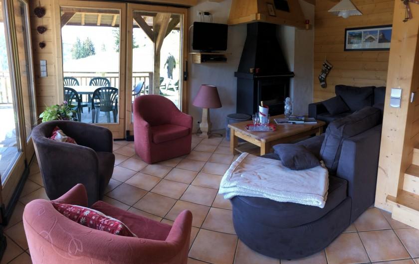 Location de vacances - Chalet à Les Gets - salon