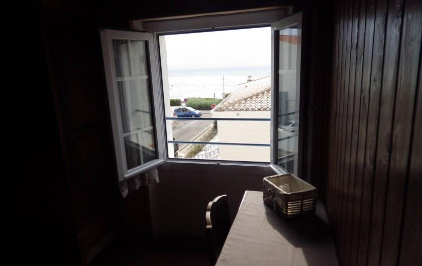 Location de vacances - Villa à Saint-Hilaire-de-Riez - Chambre 3 vue mer
