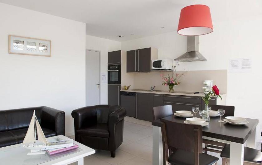 Location de vacances - Maison - Villa à Guissény - La pièce de vie d'une maison 2/4 personnes
