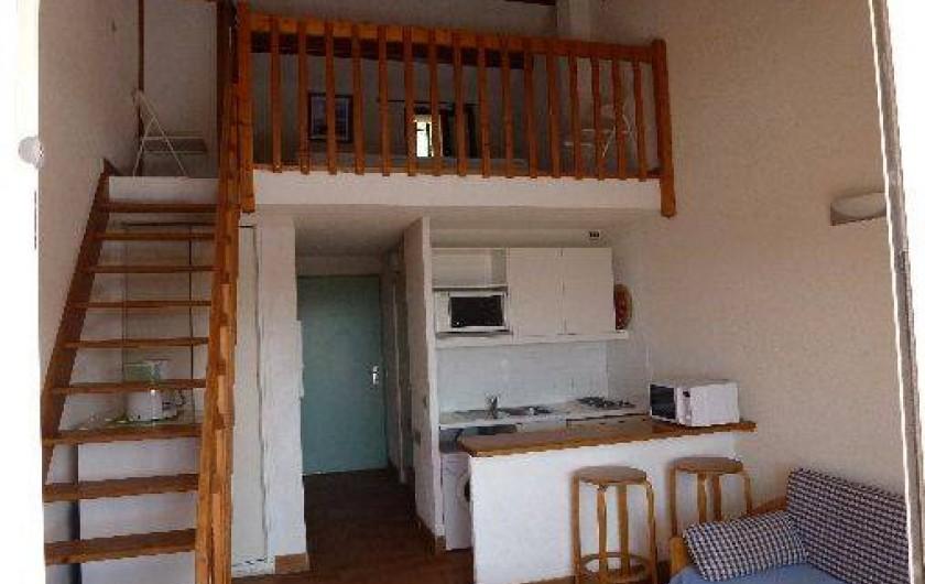 Location de vacances - Appartement à Le Lavandou - Studio-cabine-mezzanine