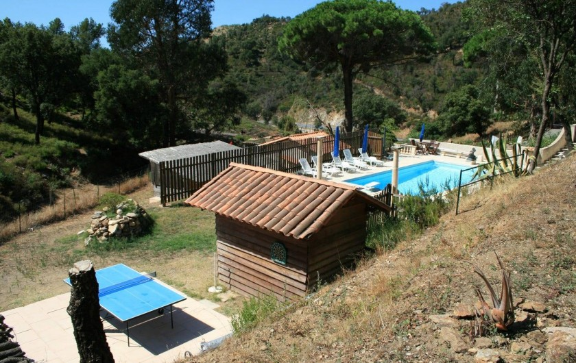 Location de vacances - Mas à Sainte-Maxime - la piscine - table de tennis