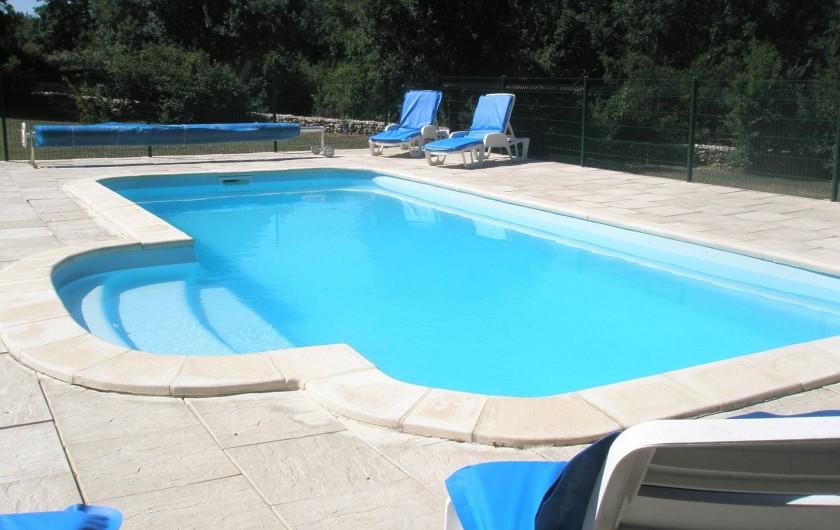 Location de vacances - Gîte à Caylus - gite la colonie la piscine sous un autre angle
