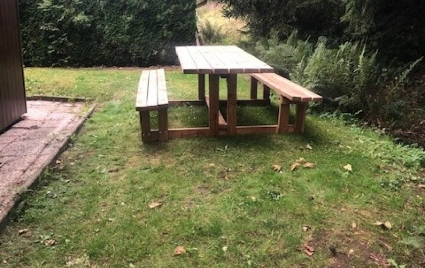Location de vacances - Chalet à Tendon - TABLE EXTERIEURE
