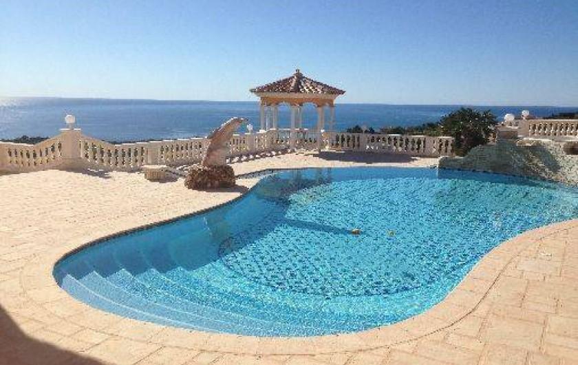 Location de vacances - Villa à Les Issambres - Piscine vue mer