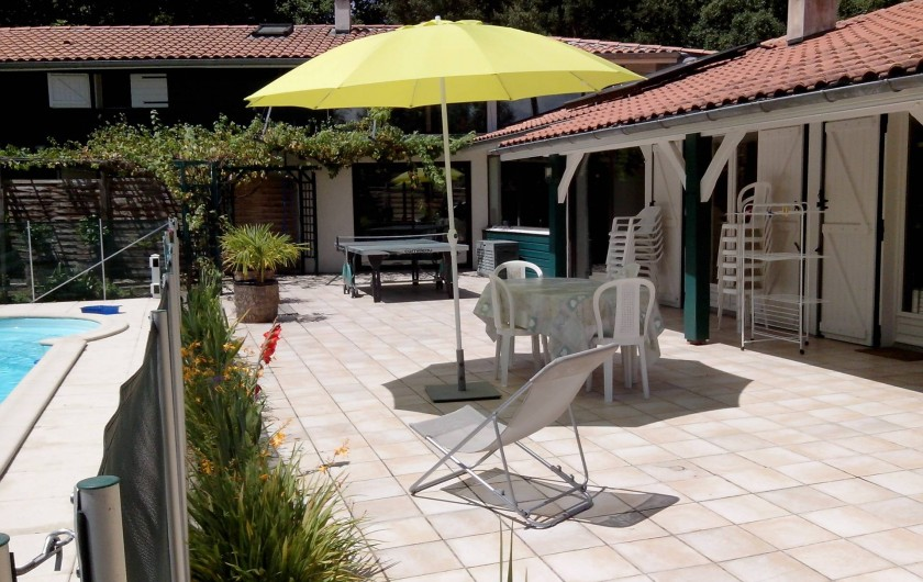 Location de vacances - Villa à Seignosse - terrasse
