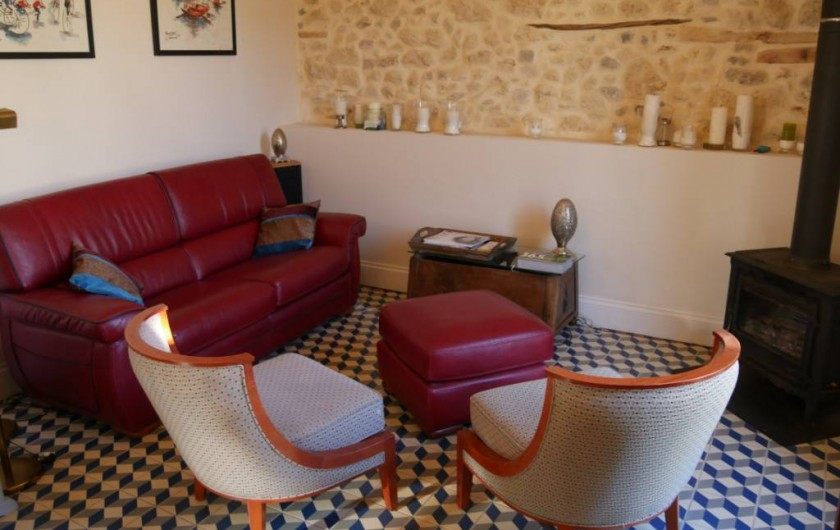 Location de vacances - Maison - Villa à Pouzolles - espace salon