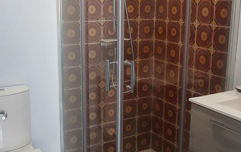 Location de vacances - Studio à Charleval - la salle d'eau comporte douche en 90 x90, lavabo et wc