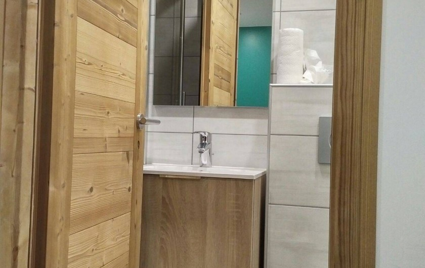 Location de vacances - Appartement à Les Deux Alpes - Salle de douche et WC