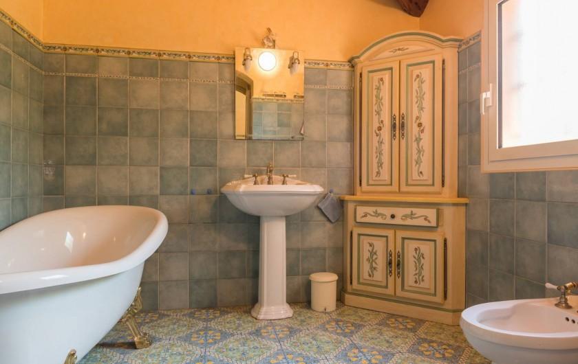 Location de vacances - Villa à La Cadière-d'Azur - salle de bain