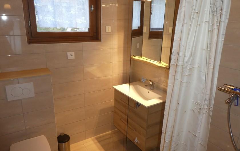 Location de vacances - Chalet à Bellevaux - Salle d'eau + toilette  Rez de Jardin