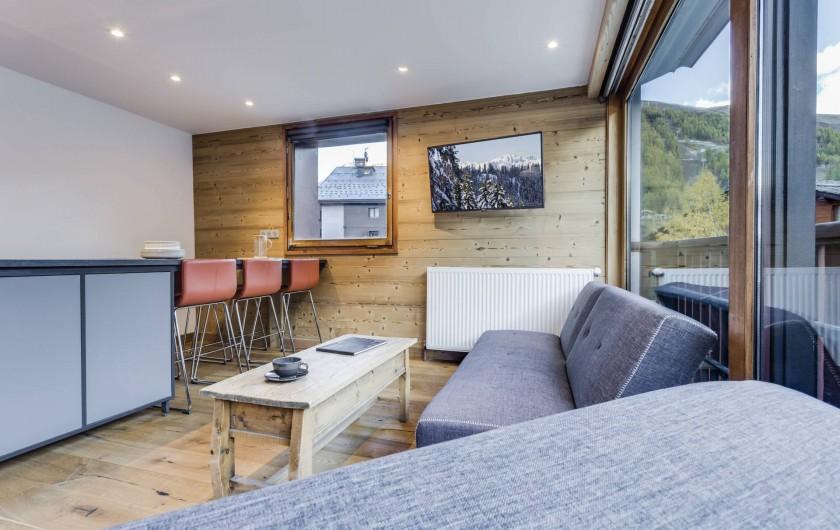Location de vacances - Appartement à Val-d'Isère - Salon et Séjour