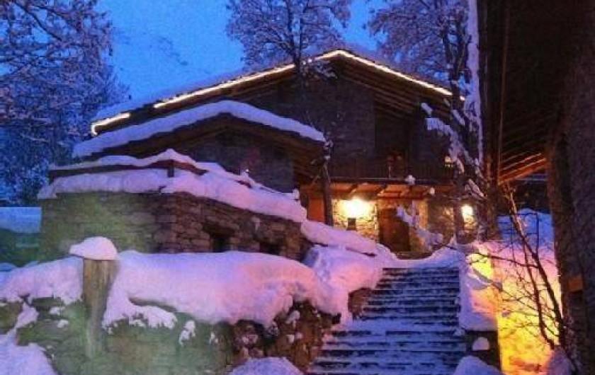 Location de vacances - Appartement à Bonneval-sur-Arc - Chalet Le Pré Catin enneigé