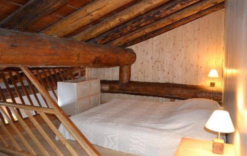 Location de vacances - Appartement à Bonneval-sur-Arc - Chambre double en mezzanine