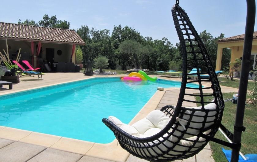 Location de vacances - Villa à Lalbenque - Piscine privée, chauffée de 4x11 m