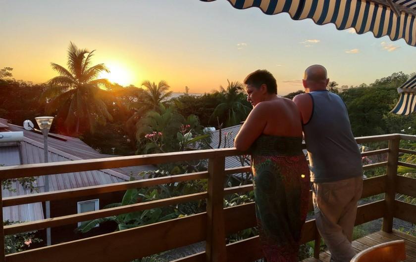 Location de vacances - Bungalow - Mobilhome à Bouillante - Vue imprenable sur la mer des Caraïbes