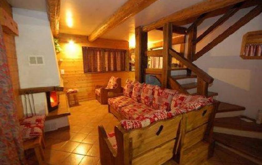 Location de vacances - Chalet à Mâcot-la-Plagne - Salon cheminée