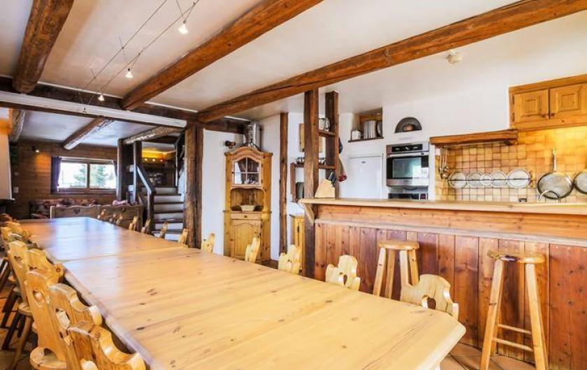 Location de vacances - Chalet à Mâcot-la-Plagne - Cuisine Salle à manger