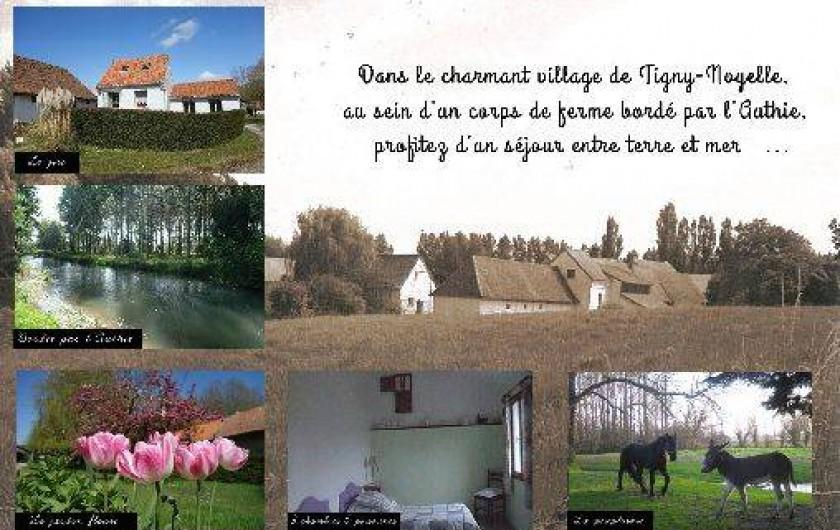 Location de vacances - Gîte à Berck - Le verso de notre carte de visite.