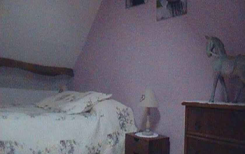 Location de vacances - Gîte à Berck - La chambre (2 personnes) à l'étage.