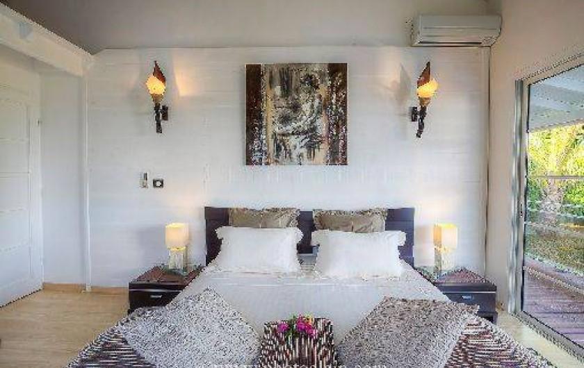 Location de vacances - Villa à Sainte-Anne - Chambre maron lit 180 x 200