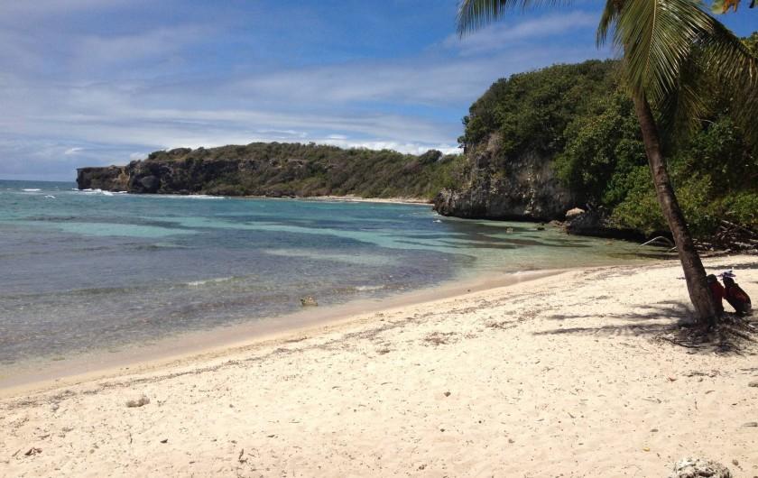 Location de vacances - Villa à Sainte-Anne - Plage de l'anse à jacques à 20 mn