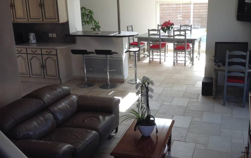 Location de vacances - Villa à Bormes-les-Mimosas - salon, salle à manger