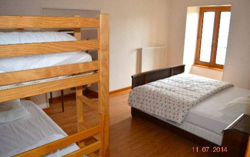 Location de vacances - Appartement à Pontgibaud - chambre 1: 1lit 140,2 lits superposés,