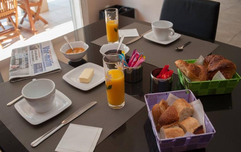 Location de vacances - Chambre d'hôtes à Lorgues - Petit déjeuner avec produits frais
