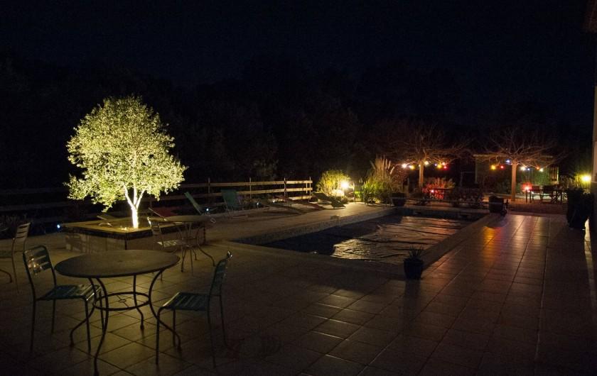 Location de vacances - Chambre d'hôtes à Lorgues - Les terrasses de nuit