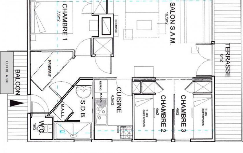 Location de vacances - Chalet à Saint-Lary-Soulan - Plan  logement