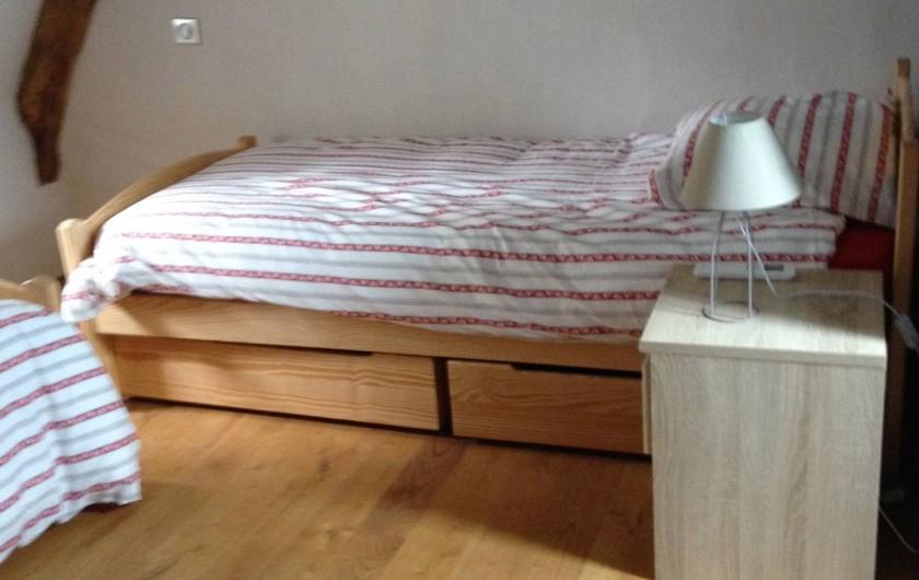 Location de vacances - Maison - Villa à Cajarc - chambre avec 2 lits de 90