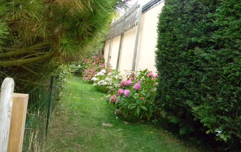 Location de vacances - Maison - Villa à Erquy - devant les 4 maisons, le chemin d'accès