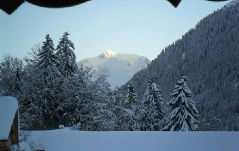 Location de vacances - Appartement à Hauteluce - Vu du mont blanc depuis le chalet