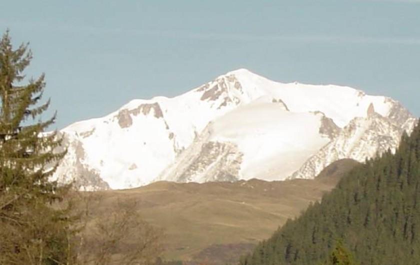 Location de vacances - Appartement à Hauteluce - Vu du mont blanc