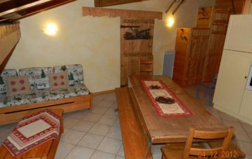 Location de vacances - Appartement à Hauteluce - Pièce de vie salon, salle à manger