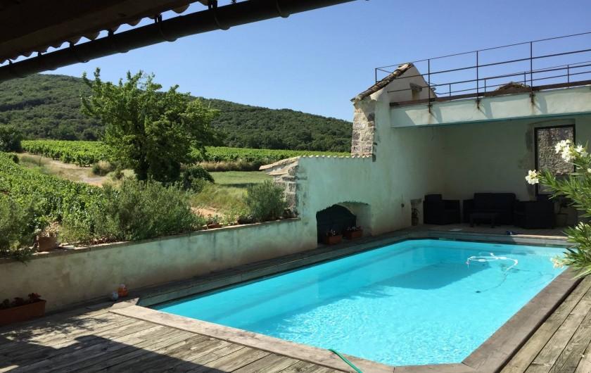Location de vacances - Mas à Lagorce - piscine privée