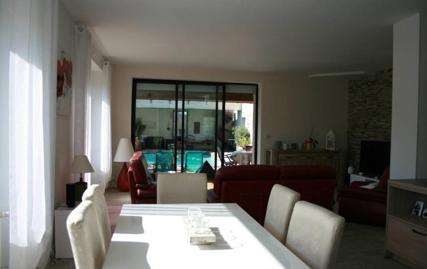 Location de vacances - Mas à Lagorce - pièce à vivre