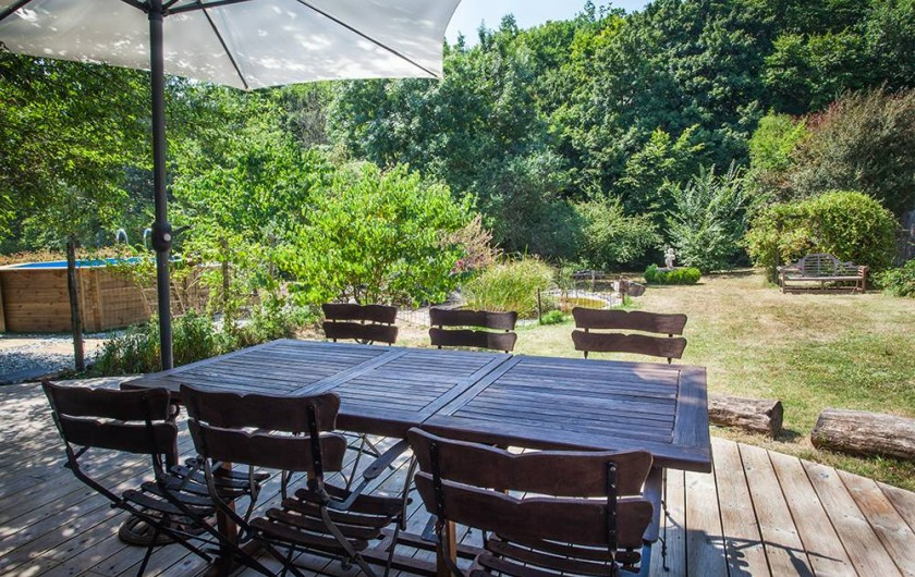 Location de vacances - Villa à Monestier - Notre terrasse ouest