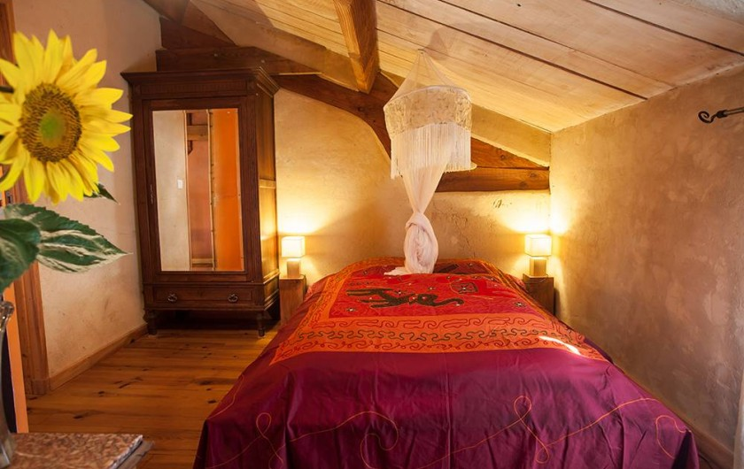 Location de vacances - Villa à Monestier - La chambre tournesol, N°2