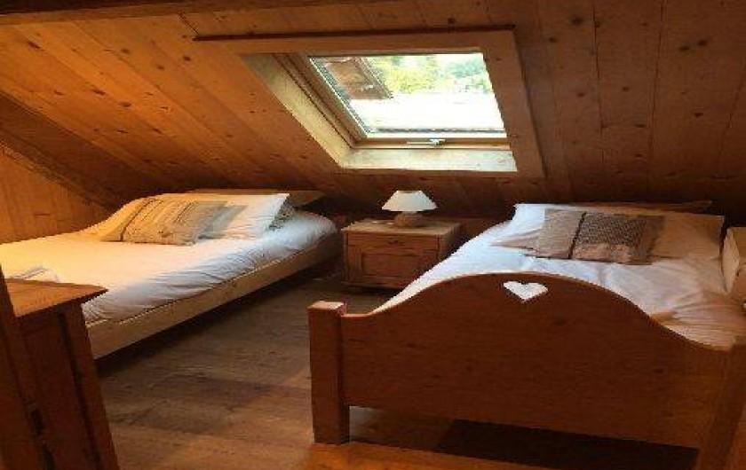 Location de vacances - Appartement à Morzine - 3ème chambre  Abricotine 2 lits 1 personne
