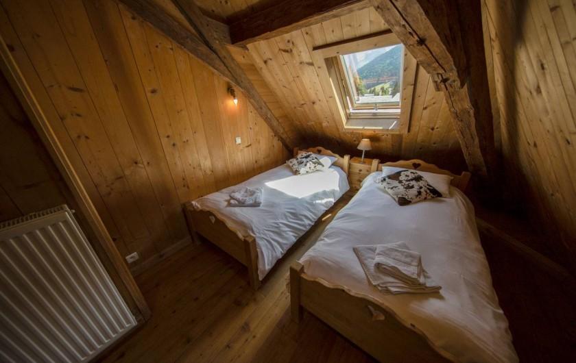 Location de vacances - Appartement à Morzine - 4ème chambre Abricotine 2 lits 1 personne