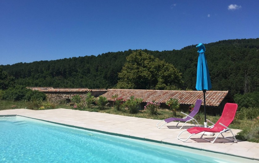 Location de vacances - Maison - Villa à Vinezac - Piscine