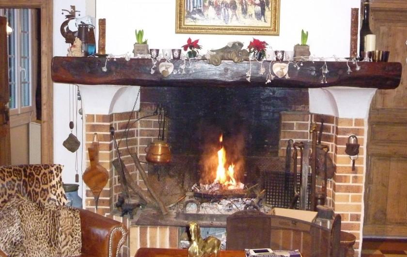 Location de vacances - Chambre d'hôtes à Le Plessis-Grohan - CHEMINEE DANS LE SALON