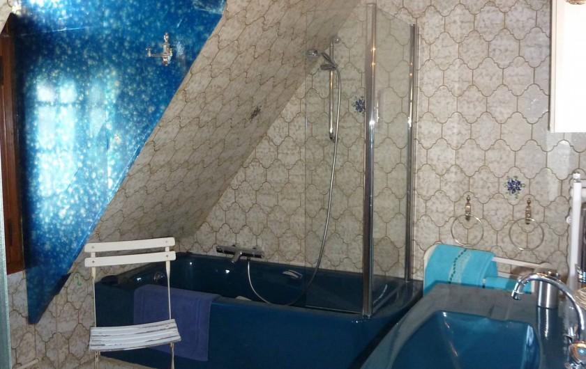 Location de vacances - Chambre d'hôtes à Le Plessis-Grohan - Suite Ô CLAIR DE LA LUNE Salle de bains