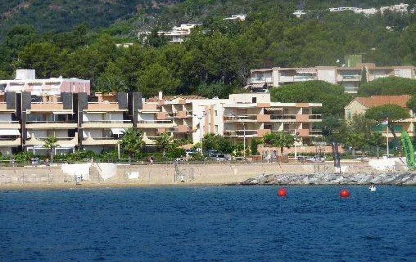 Location de vacances - Studio à Cavalaire-sur-Mer - Mer