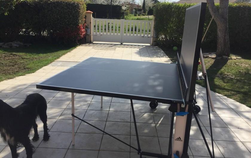 Location de vacances - Villa à Muret - table de ping pong