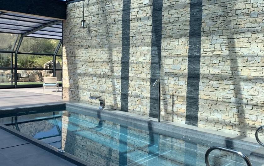Location de vacances - Villa à Calvi - SPA Villas Mandarine - Bassin à remous