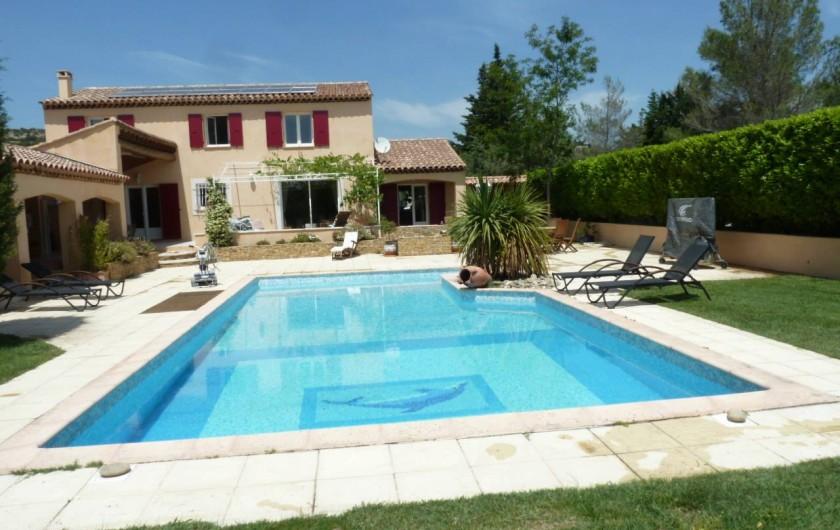 Location de vacances - Villa à Pélissanne - La piscine 12MX6
