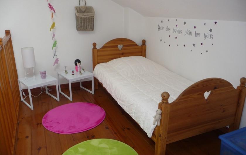"""Location de vacances - Gîte à Labastide-de-Lévis - Lit simple en Mezzanine 1er étage """"Cocagne"""""""