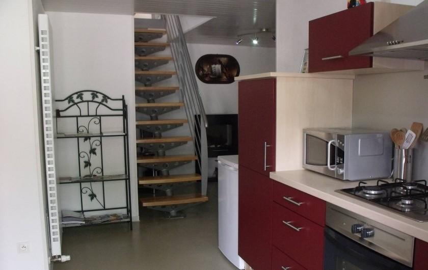 Location de vacances - Gîte à Ferdrupt - Salon cuisine gîte de 2 à 6 pers